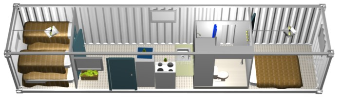 Single Shipping Container Homes 700 x 200